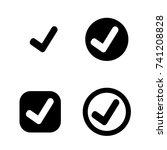 tick check mark icon | Shutterstock .eps vector #741208828