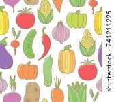 vector hand drawn doodle...   Shutterstock .eps vector #741211225