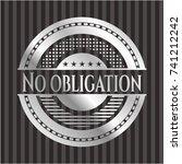 no obligation silver emblem | Shutterstock .eps vector #741212242