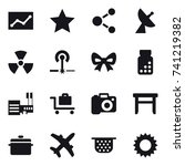 16 vector icon set   statistic  ... | Shutterstock .eps vector #741219382