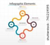modern business timeline... | Shutterstock .eps vector #741219595