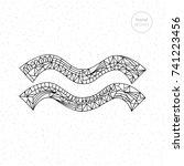 aquarius zodiac sign collection.... | Shutterstock .eps vector #741223456