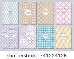 set of poster  flyer  posters ... | Shutterstock .eps vector #741224128
