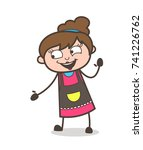 laughing face with helping hand ... | Shutterstock .eps vector #741226762
