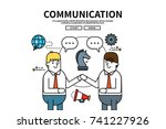 flat line vector editable... | Shutterstock .eps vector #741227926