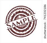 red sample rubber grunge