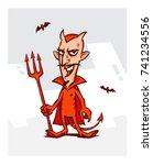 illustration of the devil for... | Shutterstock .eps vector #741234556