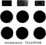 grunge post stamps collection ... | Shutterstock .eps vector #741239548
