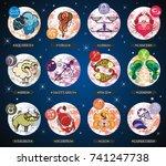 set illustration with cartoon...   Shutterstock .eps vector #741247738