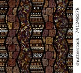 ethnic boho seamless pattern in ... | Shutterstock .eps vector #741248278