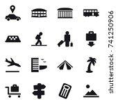 16 vector icon set   car... | Shutterstock .eps vector #741250906