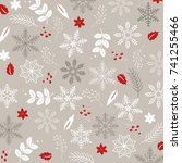winter pattern design | Shutterstock .eps vector #741255466