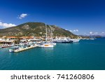 nydri  greece   october 3  2017 ... | Shutterstock . vector #741260806