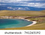 lake and mountains | Shutterstock . vector #741265192