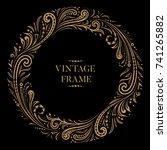 vintage circular ornamental... | Shutterstock .eps vector #741265882