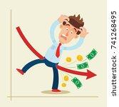 financial crisis. businessman... | Shutterstock .eps vector #741268495