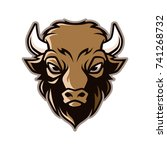 bison mascot vector   Shutterstock .eps vector #741268732