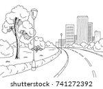 street road graphic black white ... | Shutterstock .eps vector #741272392