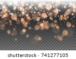 bokeh lights effect isolated on ... | Shutterstock .eps vector #741277105