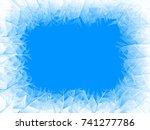 vector blue frost frame. eps8.... | Shutterstock .eps vector #741277786