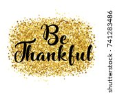 happy thanksgiving day card ... | Shutterstock .eps vector #741283486