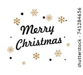 merry christmas lettering with... | Shutterstock .eps vector #741284656