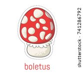 inedible mushrooms for your... | Shutterstock .eps vector #741286792