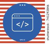 code editor icon | Shutterstock .eps vector #741292846