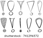 set of different hand drawn... | Shutterstock .eps vector #741296572