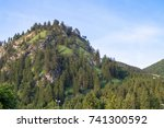 view to the alpine landscape... | Shutterstock . vector #741300592