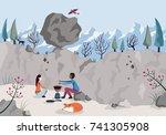 concept of risk. risk...   Shutterstock . vector #741305908