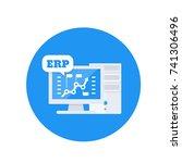 erp software vector icon | Shutterstock .eps vector #741306496