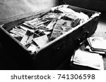collection of old photos  ... | Shutterstock . vector #741306598