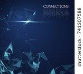 network concept blue vector... | Shutterstock .eps vector #741307588