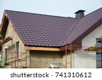 insulation house. roof... | Shutterstock . vector #741310612