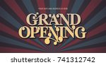 grand opening vector background.... | Shutterstock .eps vector #741312742