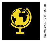 desktop globe icon vector | Shutterstock .eps vector #741315358