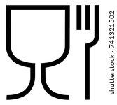 vector illustration food safe... | Shutterstock .eps vector #741321502