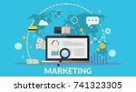Concept Online Marketing Vecto...