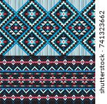 tribal seamless colorful... | Shutterstock .eps vector #741323662