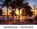 riviera maya puerto morelos... | Shutterstock . vector #741324226