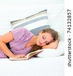 attractive woman sleeping on... | Shutterstock . vector #74132857