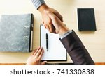 job interview with human... | Shutterstock . vector #741330838