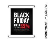 black friday sale banner on... | Shutterstock .eps vector #741331342