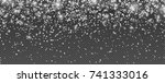 snowflakes  realistic christmas ...   Shutterstock .eps vector #741333016