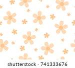 flower and mini size flower on...   Shutterstock .eps vector #741333676