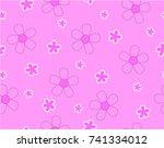 flower and mini size flower on...   Shutterstock .eps vector #741334012