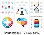 vector medicine infographic.... | Shutterstock .eps vector #741335842