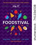 food festival poster design... | Shutterstock .eps vector #741336538