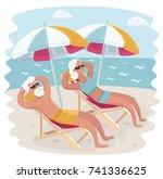 vector cartoon illustration of... | Shutterstock .eps vector #741336625